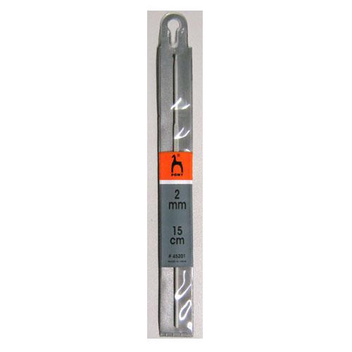 45201 PONY Крючок вязальный 2,00 мм 15 см, алюминий купить в Беларуси со скидкой