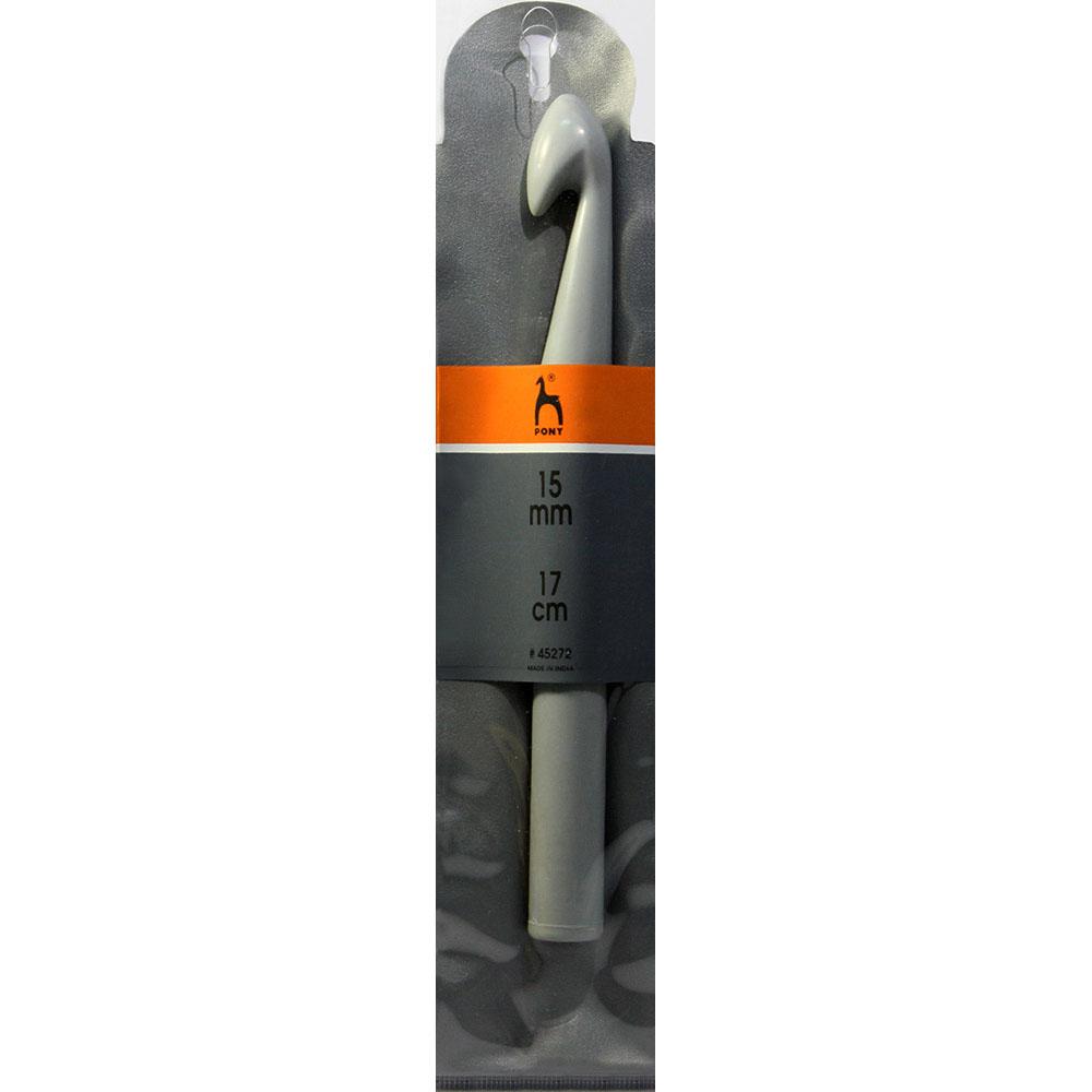 45272 PONY Крючок вязальный 15,00 мм/17см, пластик заказать в Беларуси с доставкой
