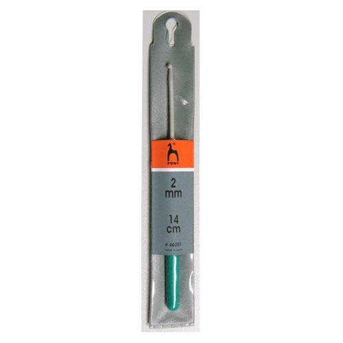 46201 PONY Крючок вязальный 2,00 мм/14см, алюминий, с пластиковой ручкой купить по выгодной цене в Минске