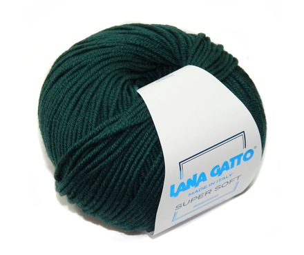 Super Soft Lana Gatto ( Лана Гатто Супер Софт) 8563 - насыщенная зелень