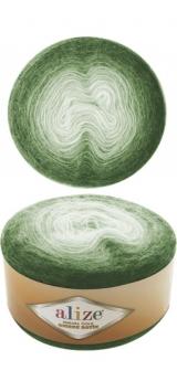 ALIZE ANGORA GOLD OMBRE BATIK (АЛИЗЕ АНГОРА ГОЛД ОМБРЕ БАТИК) 7297 - зеленый купить с доставкой по Беларуси