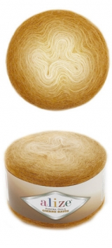 ALIZE ANGORA GOLD OMBRE BATIK (АЛИЗЕ АНГОРА ГОЛД ОМБРЕ БАТИК) 7358 - горчичный заказать в Беларуси