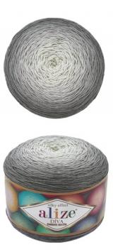 ALIZE DIVA OMBRE BATIK (АЛИЗЕ ДИВА ОМБРЕ БАТИК) 7380 - серый заказать в Беларуси со скидкой