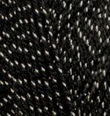 ALIZE SAL SIM (АЛИЗЕ ШАЛЬ СИМ) 6001 - черный с серебром купить дешево в Беларуси