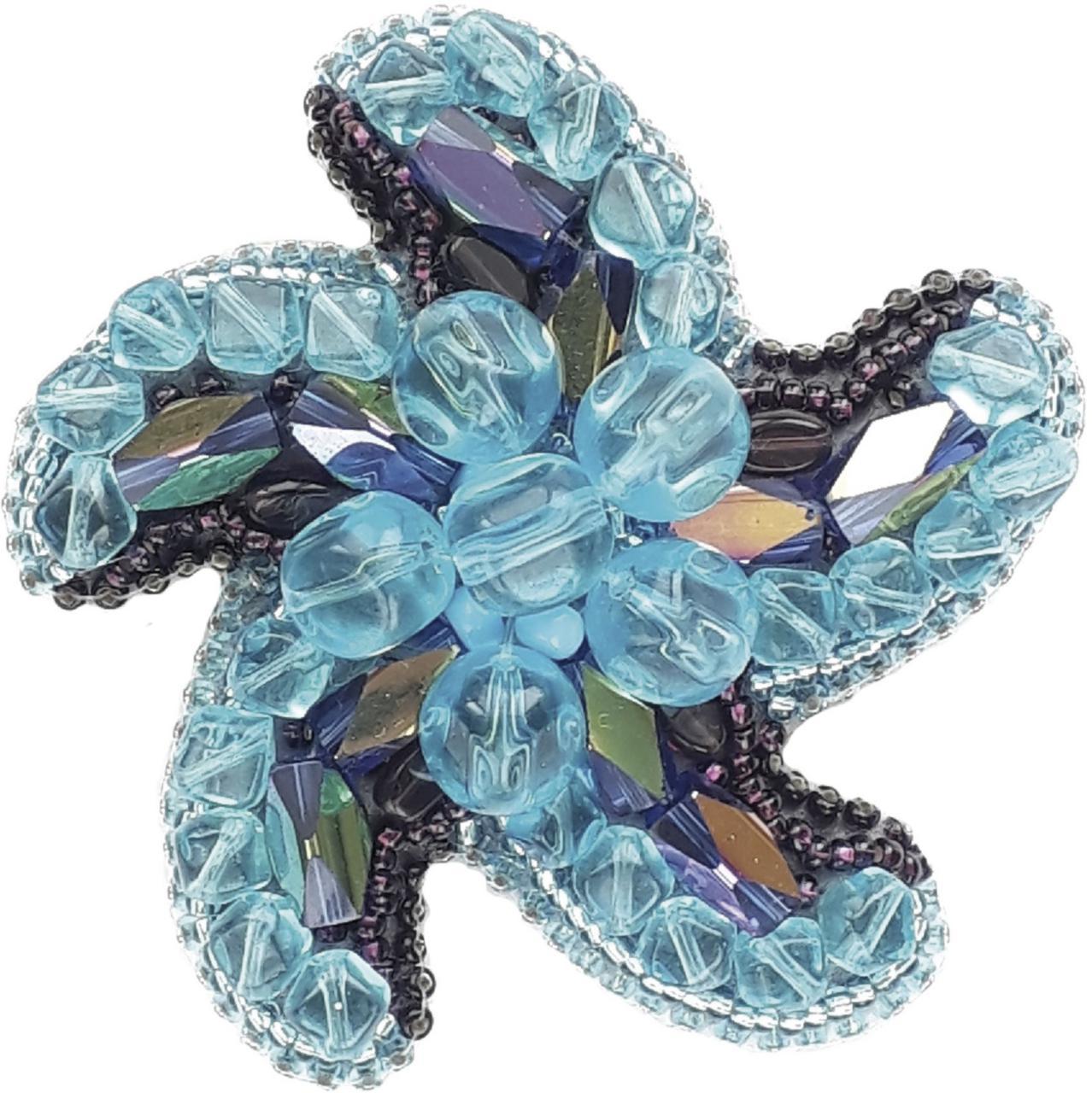 БП-199 Набор для изготовления броши Crystal Art Звезда морей купить брошь в Беларуси