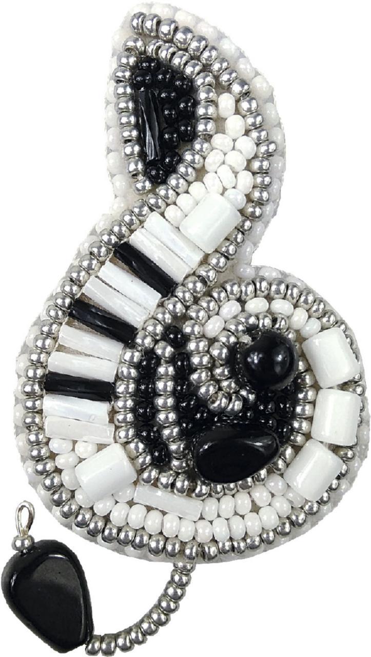 БП-202 Набор для изготовления броши Crystal Art Скрипичный ключик купить набор для броши