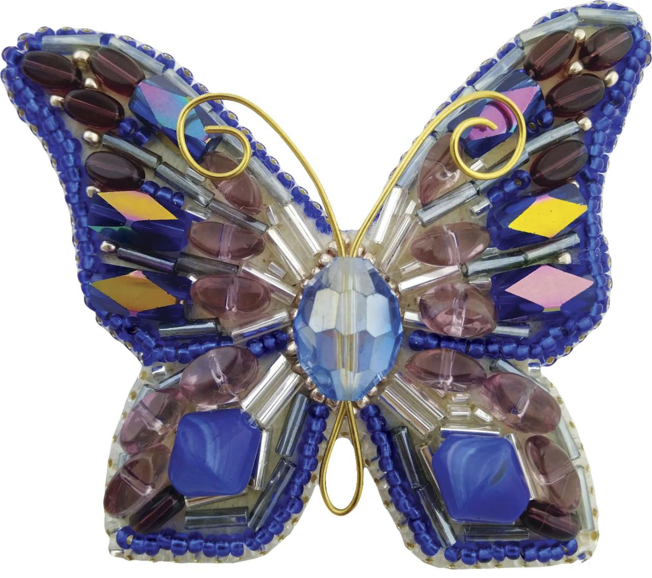БП-214 Набор для изготовления броши Crystal Art Мотылёк купить брошь в рб