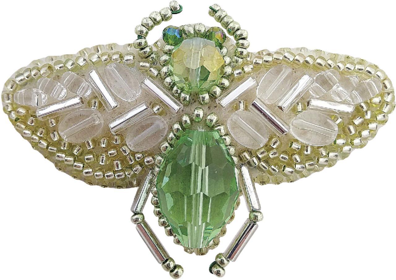 БП-215 Набор для изготовления броши Crystal Art Жук купить со скидкой брошь