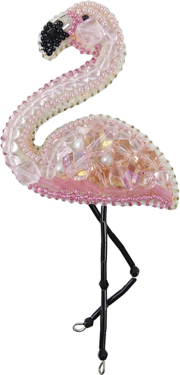БП-216 Набор для изготовления броши Crystal Art Фламинго купить в Беларуси