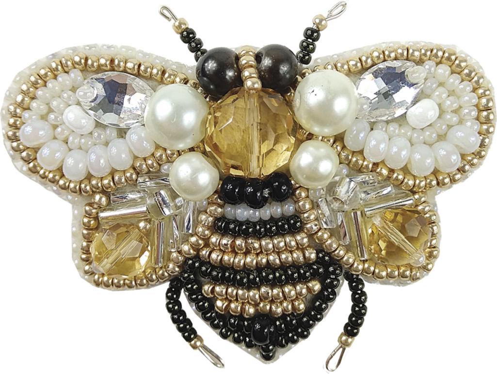 БП-221 Набор для изготовления броши Crystal Art Пчёлка купить брошку со скидкой