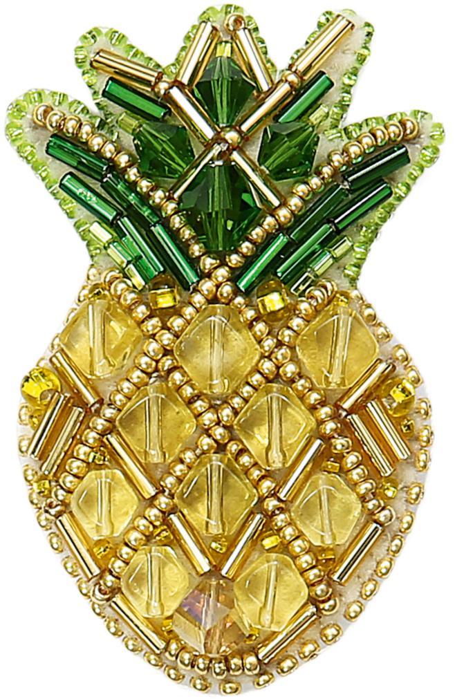 БП-230 Набор для изготовления броши Crystal Art Ананас купить набор для брошей