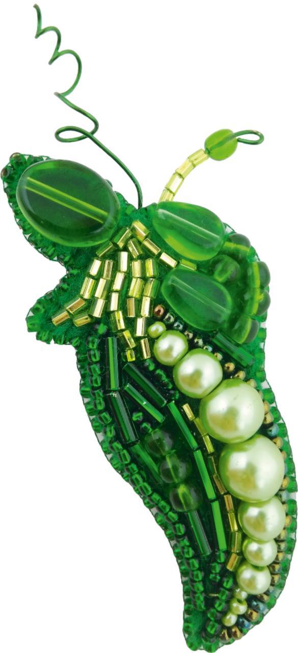 БП-232 Набор для изготовления броши Crystal Art Горошек купить брошь со скидкой