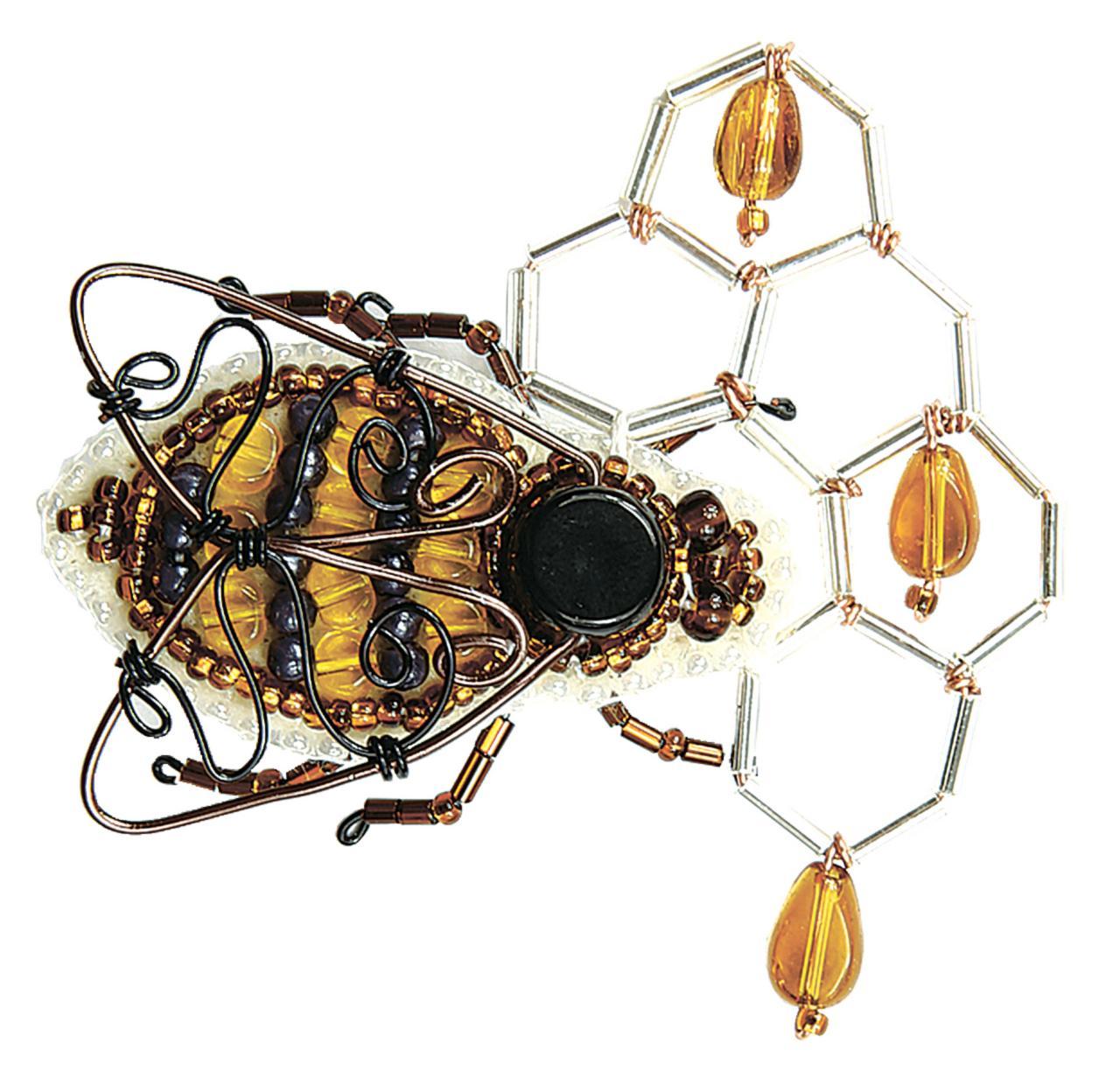 БП-235 Набор для изготовления броши Crystal Art Мёд в сотах купить набор для изготовления броши