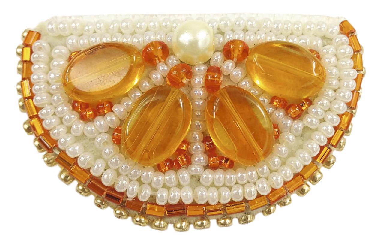БП-239 Набор для изготовления броши Crystal Art Апельсин купить набор для броши Беларусь
