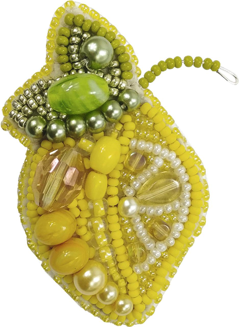 БП-240 Набор для изготовления броши Crystal Art Лимончик купить в Минске брошь