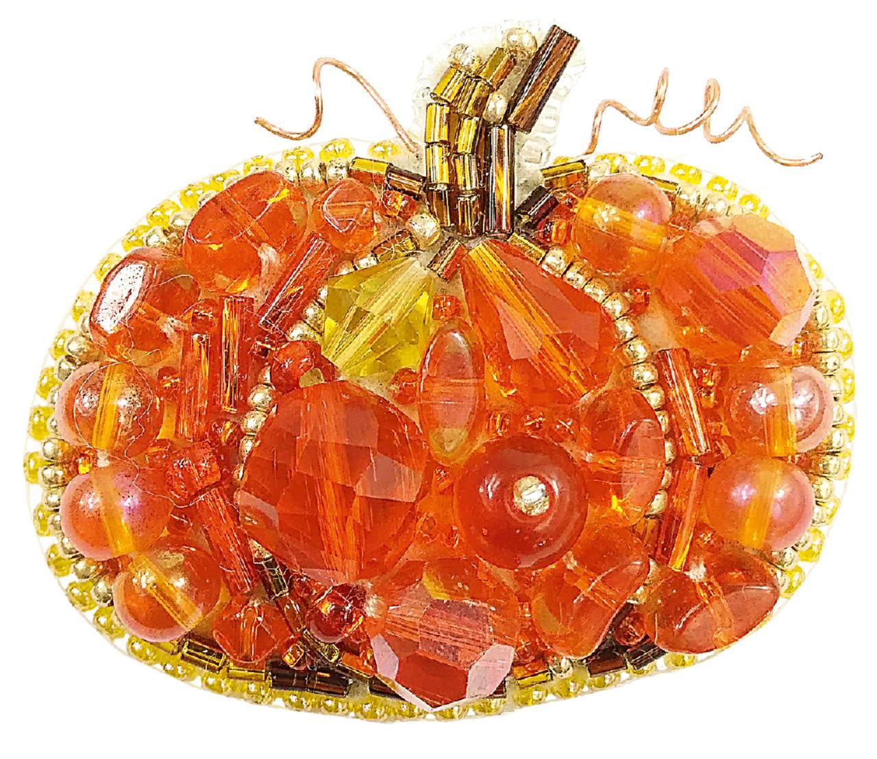БП-242 Набор для изготовления броши Crystal Art Тыквеа Купить брошь в Минске