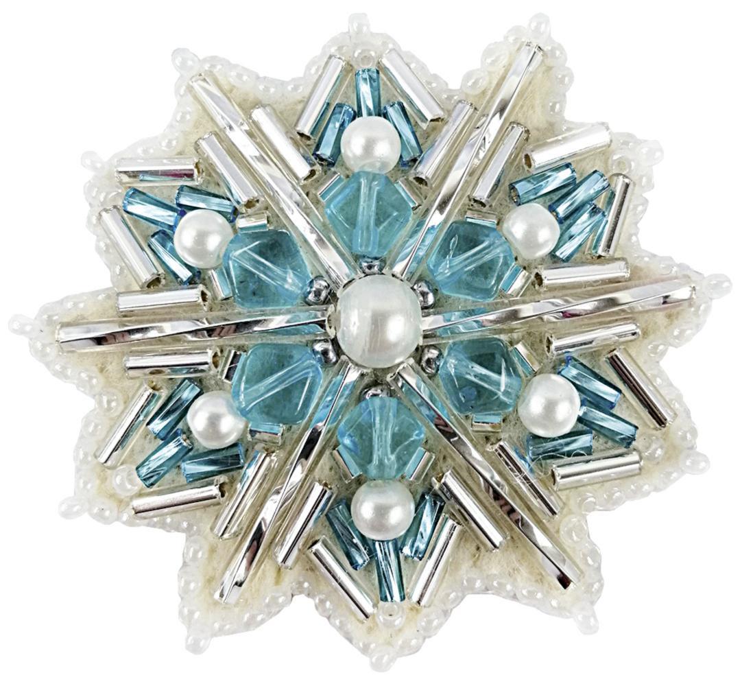 БП-252 Набор для изготовления броши Crystal Art Снежинка Купить брошь в Беларуси