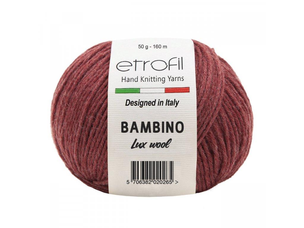 Etrofil Bambino Lux Wool (Этрофил Бамбино Люкс Вул) 70313 - бордовый купить с доставкой по Минску