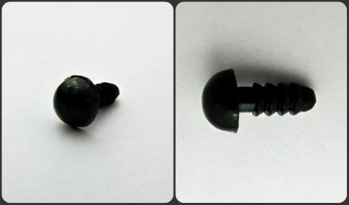 Глазик-носик с винтом ( 1 шт.) круглый 8 мм черный купить в Беларуси