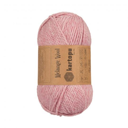 KARTOPU MELANGE WOOL (КАРТОПУ МЕЛАНЖ ВУЛ) МK110 - пыльно-розовый купить с доставкой по Беларуси