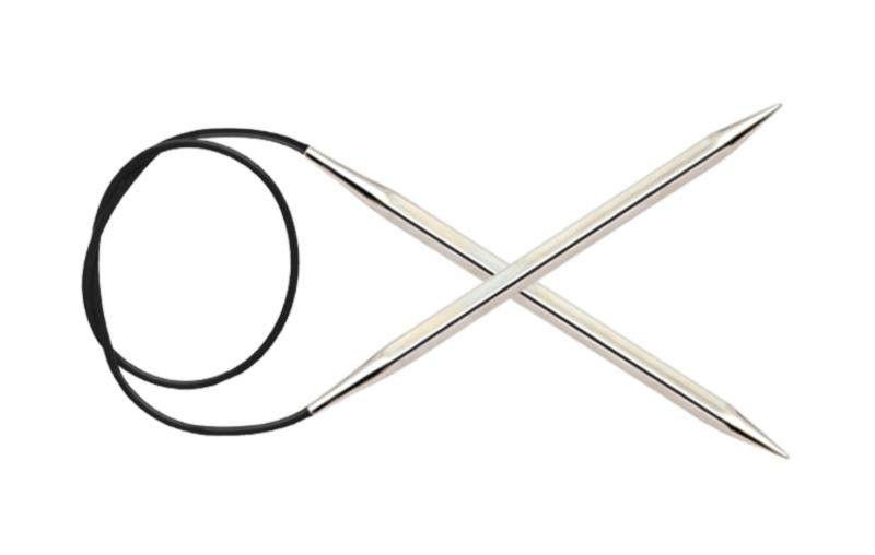 КРУГОВЫЕ МЕТАЛЛИЧЕСКИЕ СПИЦЫ NOVA CUBICS KNITPRO, 40 СМ, 12151, 2.50 ММ купить металлические спицы