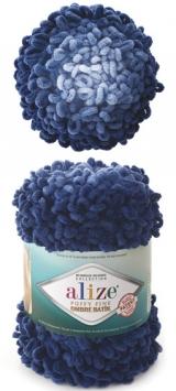 PUFFY FINE OMBRE BATIK ALIZE (ПУФФИ ФАЙН ОМБРЕ БАТИК АЛИЗЕ) 7266 - синие сумерки купить со скидкой в Беларуси