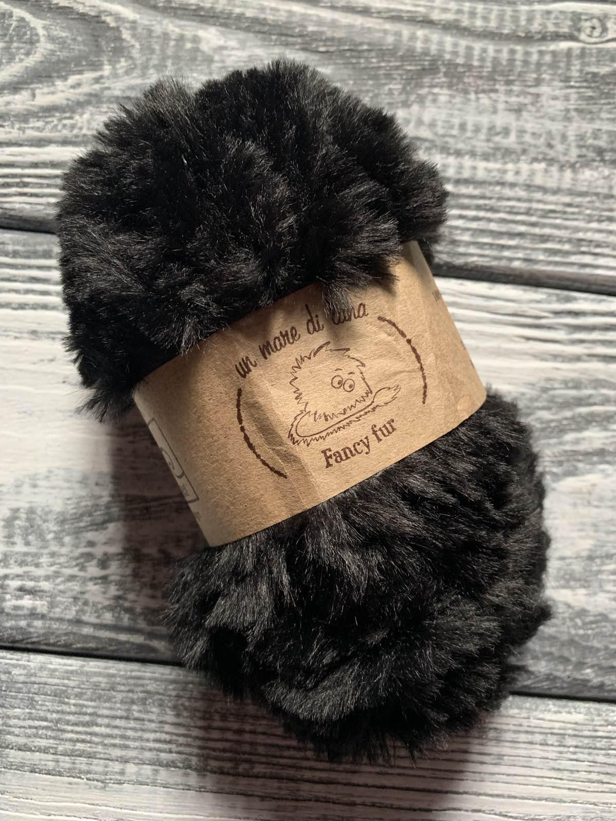 Wool Sea Fancy fur (Море шерсти Фанси фе ) 02 - черный купить в Минске