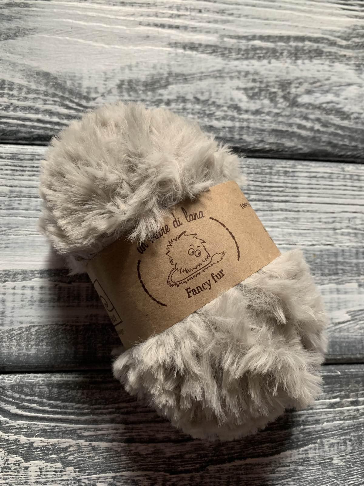 Wool Sea Fancy fur (Море шерсти Фанси фе ) 08 - светло-серый заказать в Беларуси