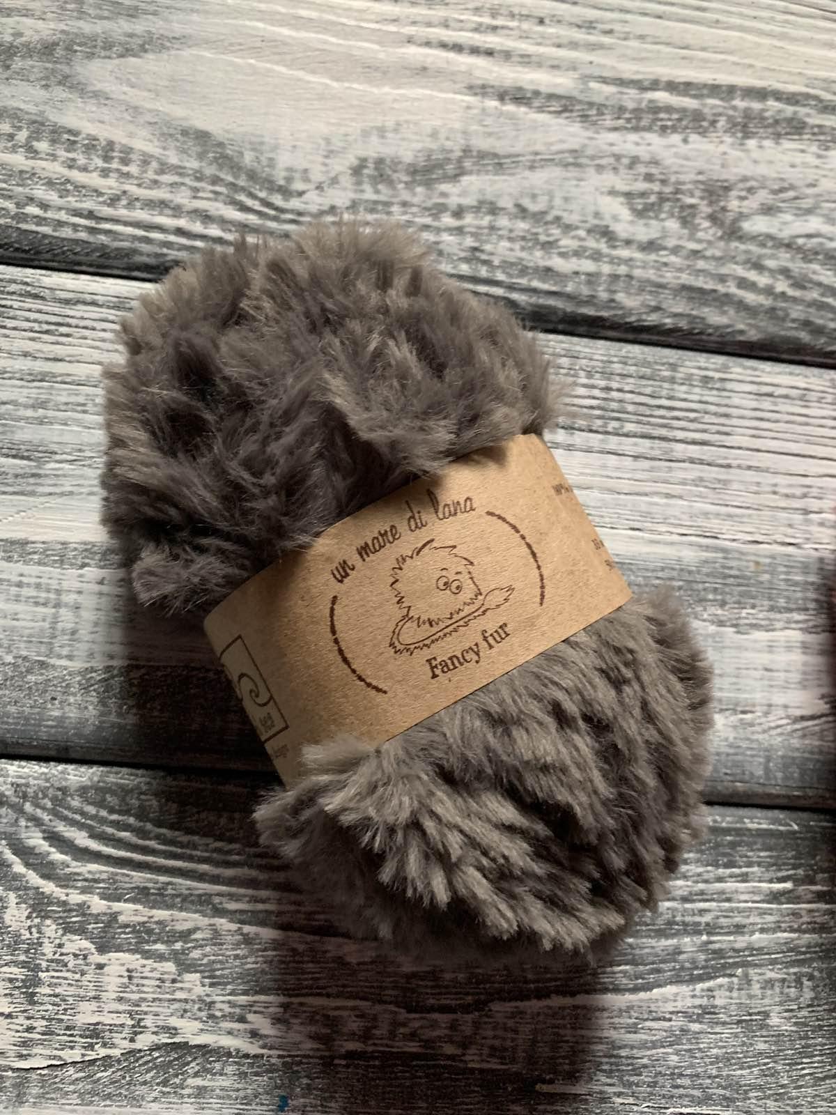 Wool Sea Fancy fur (Море шерсти Фанси фе ) 174 - стальной купить в Беларуси со скидкой