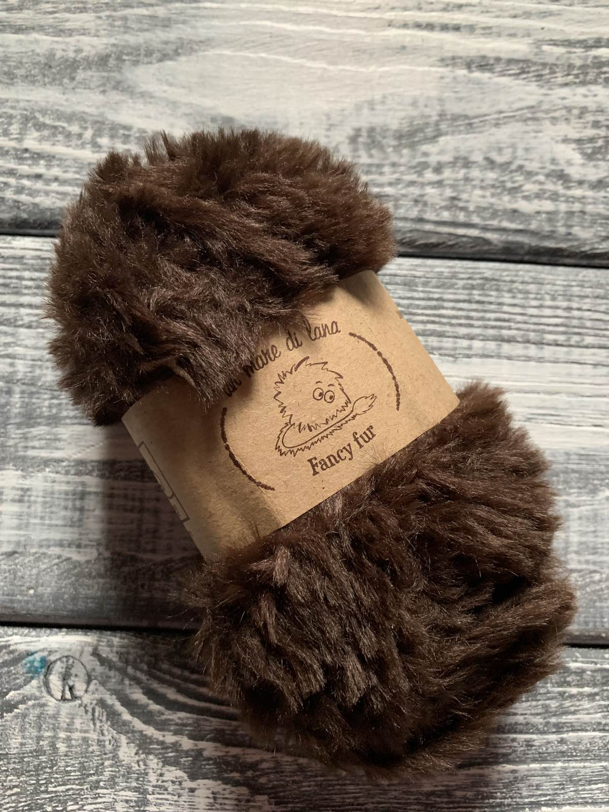 Wool Sea Fancy fur (Море шерсти Фанси фе ) 17 - шоколад купить со скидкой в Беларуси