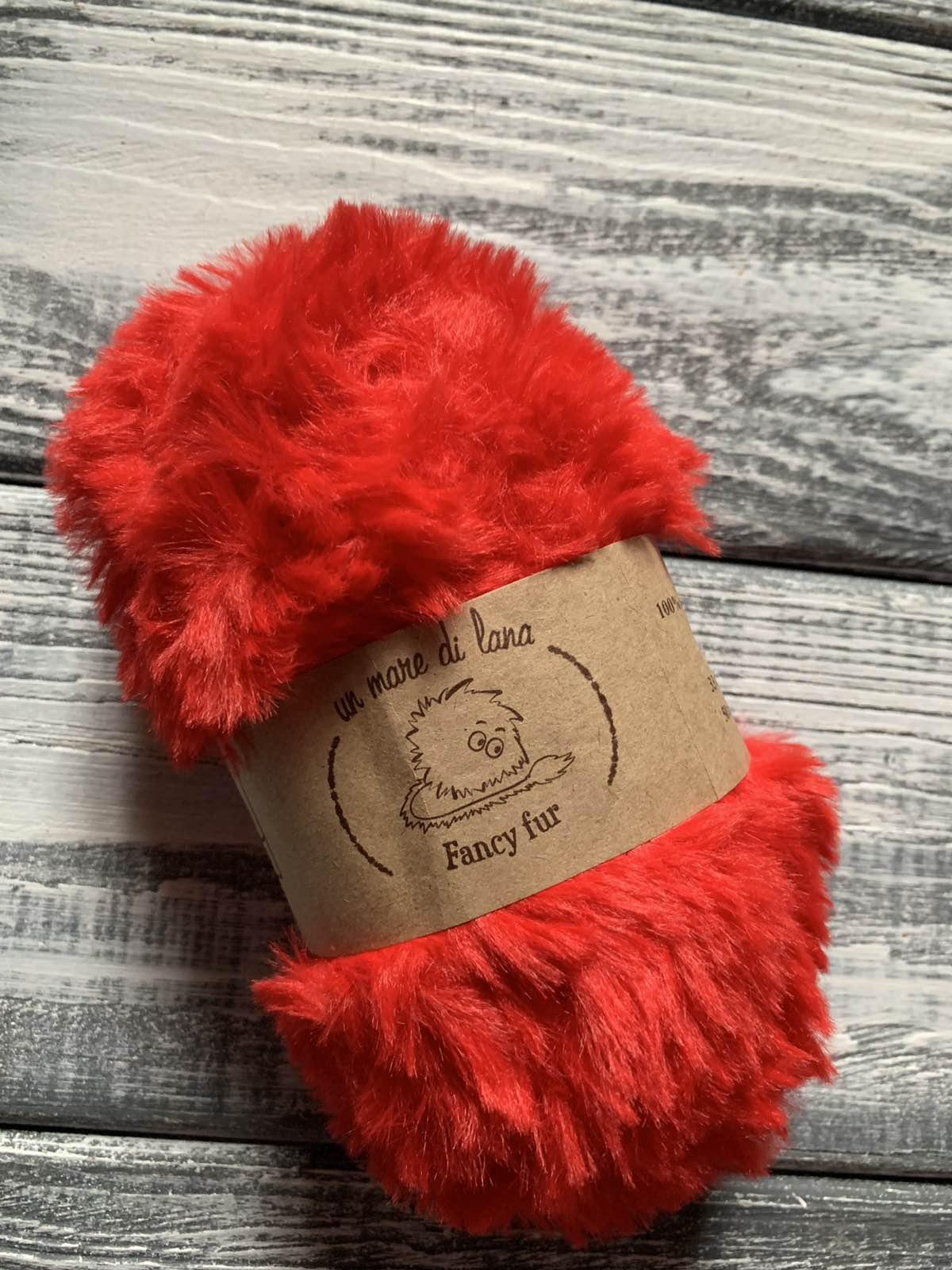 Wool Sea Fancy fur (Море шерсти Фанси фе ) 06 - красный заказать в Минске