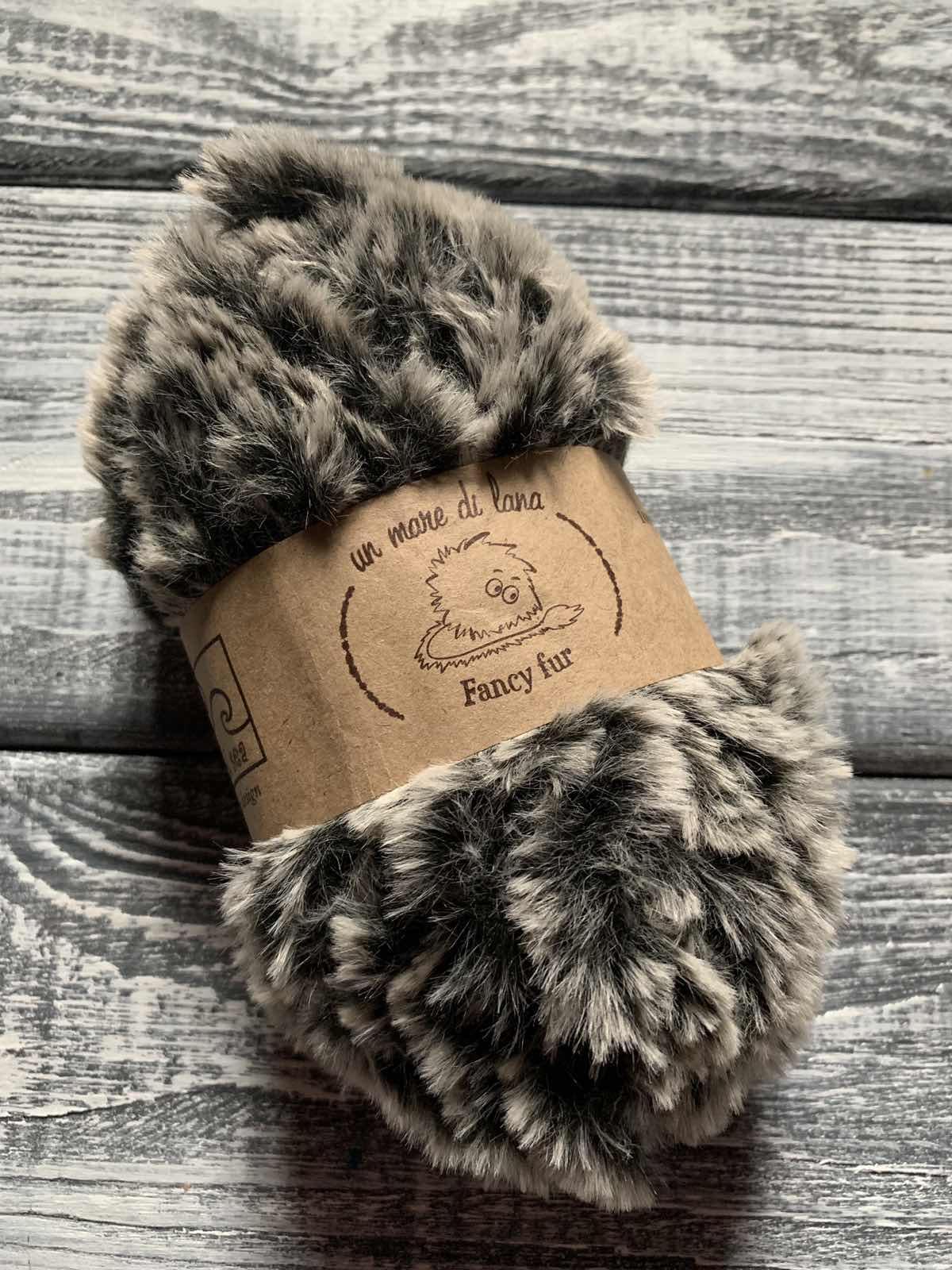 Wool Sea Fancy fur (Море шерсти Фанси фе ) 9991 - черно-серый меланж купить с доставкой по Беларуси