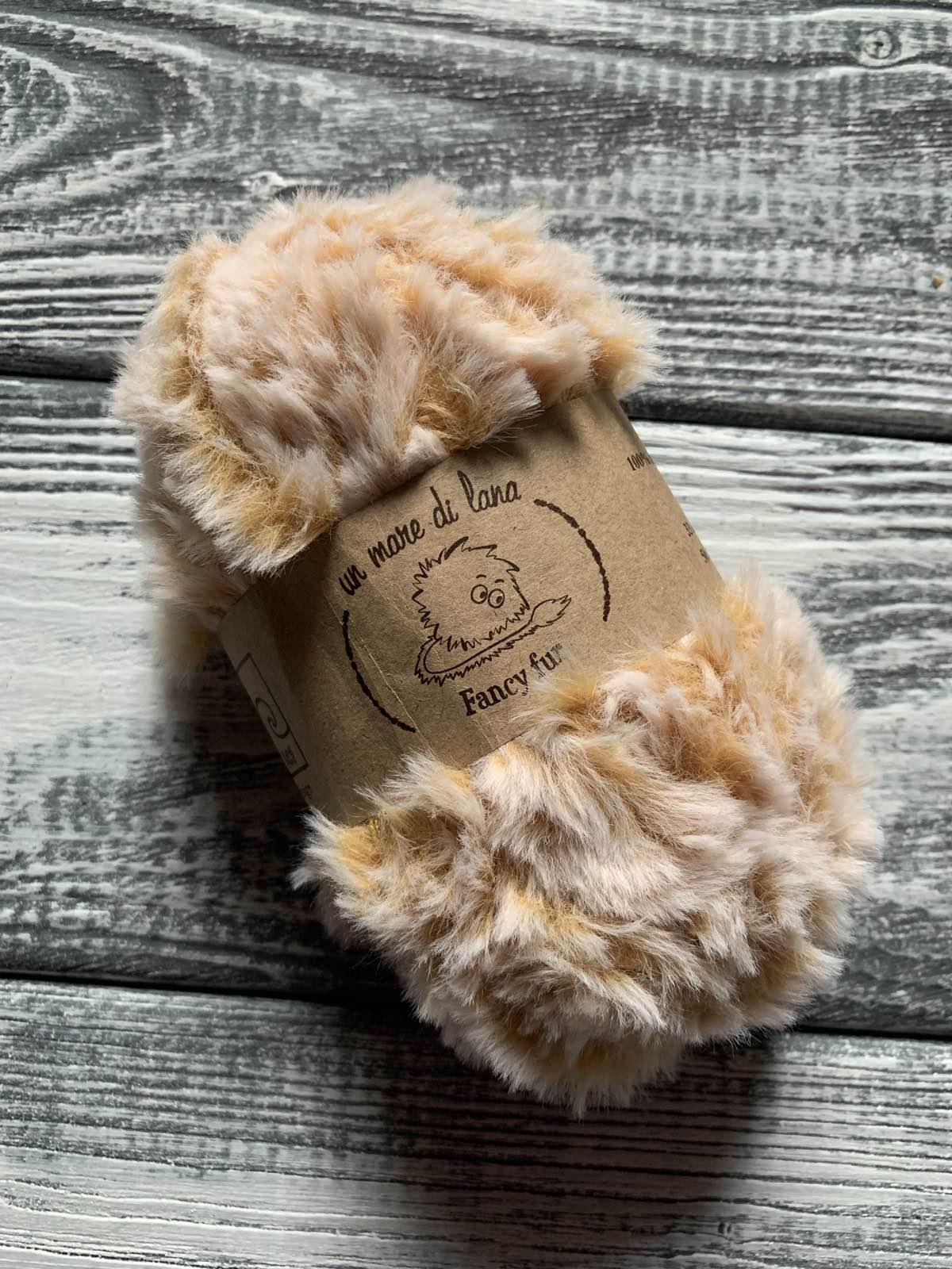 Wool Sea Fancy fur (Море шерсти Фанси фе ) 9995 - рыже-белый меланж купить в Минске с доставкой