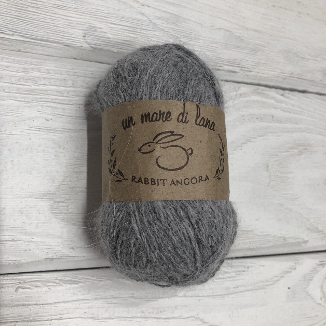 Wool Sea Rabbit Angora (вул сеа Ангора Кролик) 08 - серый меланж заказать в Минске